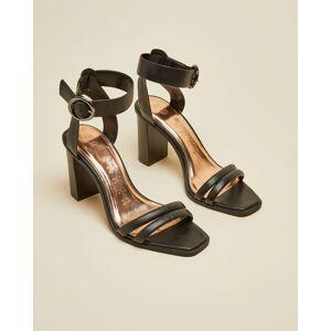 Ted Baker Block Heel Sandals  - Black - Size: US 9.5