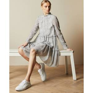 Ted Baker Leather Scalloped Edge Trainer  - White - Size: US 9.5
