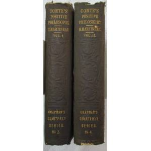 Philosophy The Positive Philosophy of Auguste Comte, in Two Volumes Comte, Auguste ; Martineau, Harriet (translated and Condensed by) [Very Good] [Hardcover]