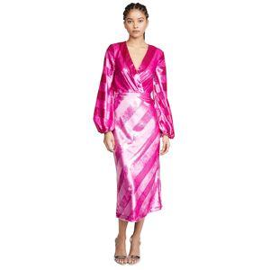Rebecca Vallance Maison Plunge Midi Dress  - Magenta8
