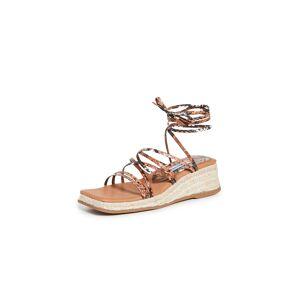 Miista Kathryn Espadrille Lace Up Sandals  - Brown - Size: 35