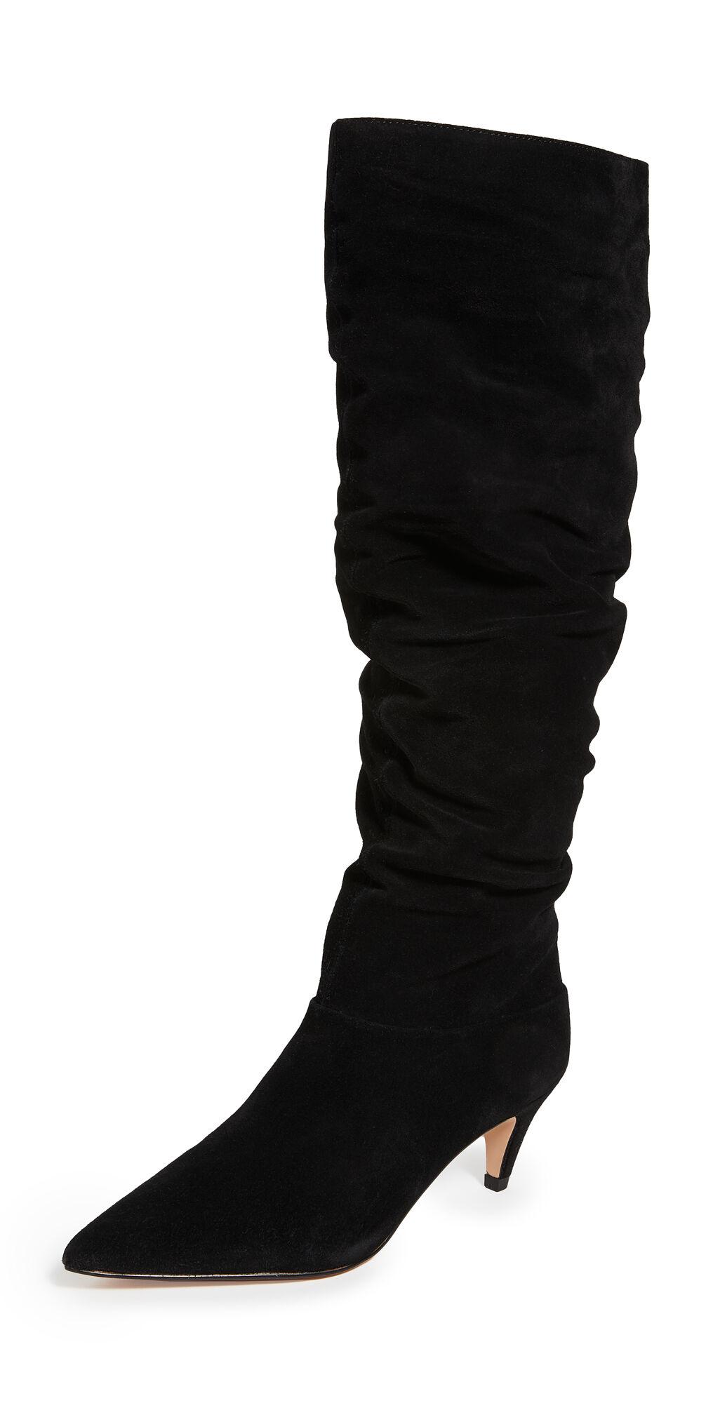 Villa Rouge Scarlett Knee High Boots  - Black - Size: 8