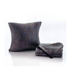 OCM Slick Knit Throw Blanket and Pillow Bundle  - Size: unisex