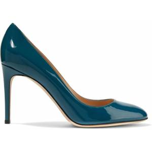 Sergio Rossi Patent-leather Pumps Teal - Blue - Sergio Rossi Heels