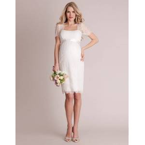 Seraphine Cut Out Lace Maternity Wedding Dress
