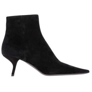 PRADA Heeled Booties Prada Pointed Ankle Boots With V-shaped Heel