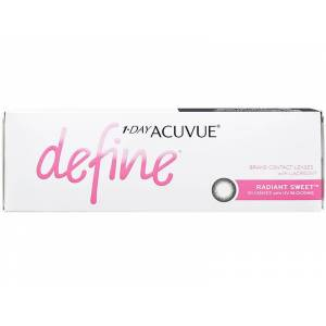 1 Day Acuvue Define Radiant Sweet with LACREON Daily Disposable Color Contact Lenses