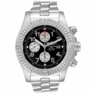 Breitling Aeromarine Super Avenger Black Dial Mens Watch A13370  - Size: One Size