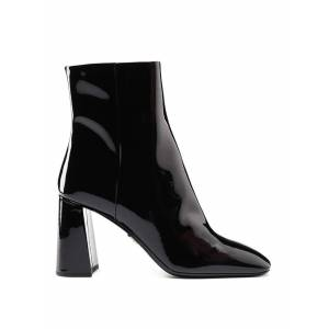 Prada Square Toe Patent Ankle Boots