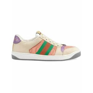 Gucci Multicolor Women's Pink And Purple Screener Sneakers