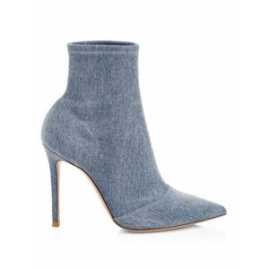 Gianvito Rossi Blue Women's Stretch Denim Booties