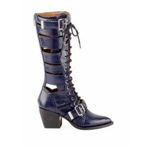 Chloé Riley Knee-High Boots  - Grey - Size: FR 37