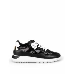 Hogan Interactive Sequined And Leather Sneakers