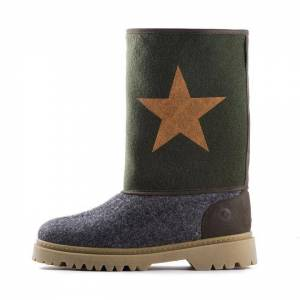 Wool Boots - Army Green
