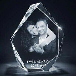Ellisi Gifts Medium Obelisk Shaped 3D Photo Crystal with 2 Half-body Images