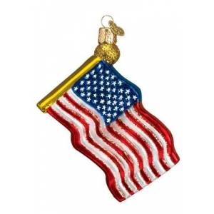 Star Spangled Banner Glass Ornament
