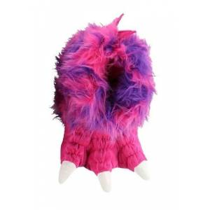 Monster Cable Kid's Pink Monster Paw Slippers