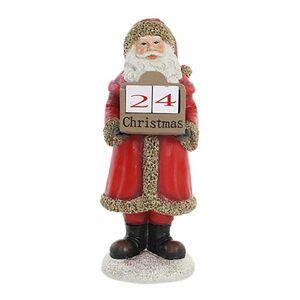 """12"""" Santa Christmas Countdown Calendar Decor"""