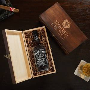 HomeWetBar Wax Seal Engraved Whiskey Bottle Gift Box
