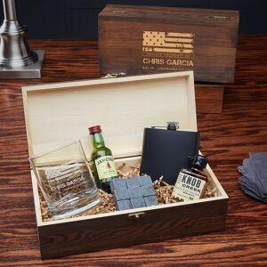 HomeWetBar American Heroes Custom Whiskey Box Set - Gift for Veterans