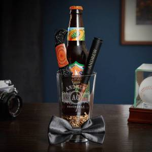 HomeWetBar Marquee Pint Night Personalized Best Man Gift Set