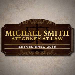 HomeWetBar Advocate of Justice Personalized Wood Sign Gift for Attorney