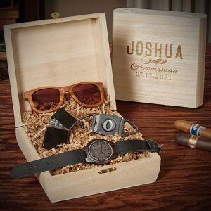 HomeWetBar Classic Groomsman Personalized Groomsmen Gift Box