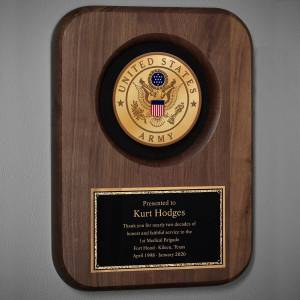HomeWetBar Army Personalized Plaque for Retirement