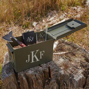 HomeWetBar Classic Monogram Hatchet and Ammo Can Groomsmen Gift Set
