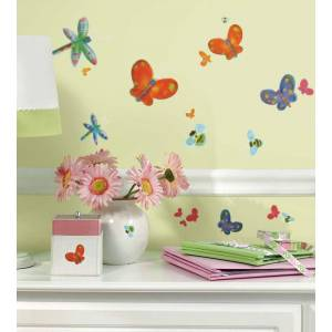 York Wallcoverings Jelly Bugs Wall Sticker Set - 58pc Peel-n-Stick Accent Decals