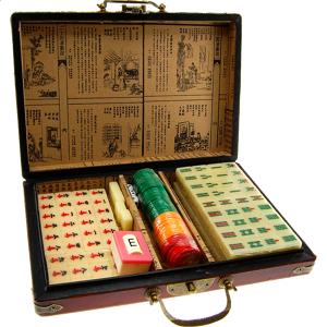 Antique Oriental Antique Mahjong