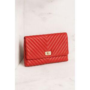Joseph d'Arezzo Perfect Timing Red Chevron Handbag  - G1085 Red