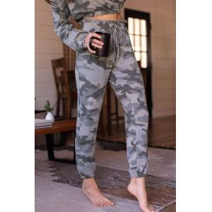 MABLE Evelina Camo Lounge Pants  - H1414 CAMO Small