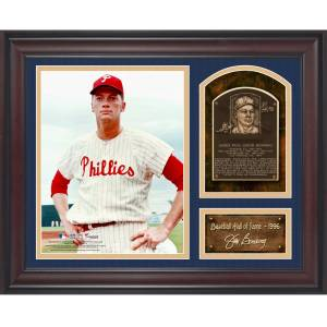 SportsMemorabilia.com Jim Bunning Baseball Hall of Fame Framed 15 x 17 Collage with Facsimile Signature