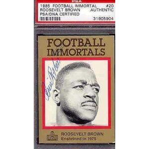SportsMemorabilia.com Roosevelt Brown Signed 1985 Immortals Psa/dna Autograph Authentic