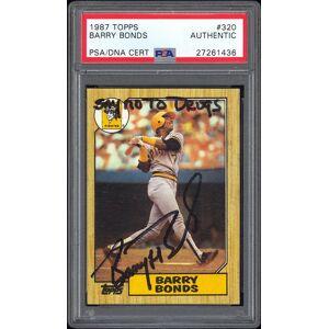SportsMemorabilia.com 1987 Topps #320 Barry Bonds RC PSA/DNA Autographed Say No To Drugs Inscription