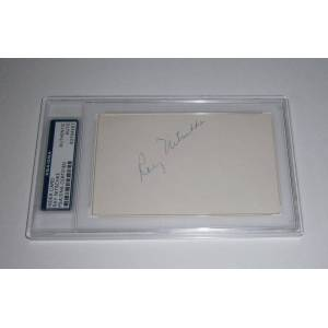 SportsMemorabilia.com PACKERS Ray Nitschke signed 3x5 index card AUTO PSA/DNA Slabbed AUTO Green Bay