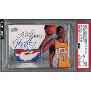 SportsMemorabilia.com 2007-08 UD Exquisite Kevin Durant RPA RC NBA Logoman Patch PSA PSA/DNA AUTO 10