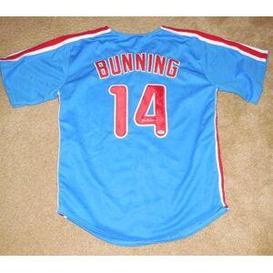SportsMemorabilia.com Autographed Jim Bunning Jersey - Custom W Proof! - Psa Coa!