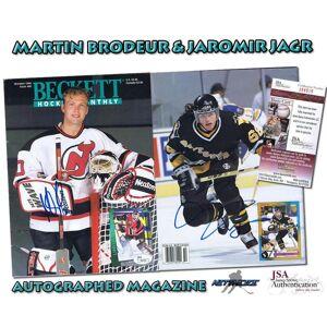 SportsMemorabilia.com MARTIN BRODEUR & JAROMIR JAGR Signed HOCKEY BECKETT ISSUE #48 - JSA #I84505