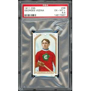 SportsMemorabilia.com 1911-12 C55 Imperial Tobacco #38 Georges Vezina RC PROOF PSA 6.5 One-of-a-kind!