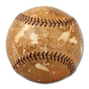 SportsMemorabilia.com Frank Chance Autographed Baseball - The Only Single On Earth PSA DNA & JSA COA