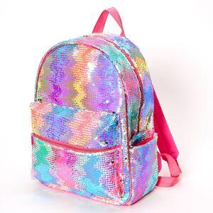 Claire's Reversible Sequin Rainbow Zig Zag Medium Backpack