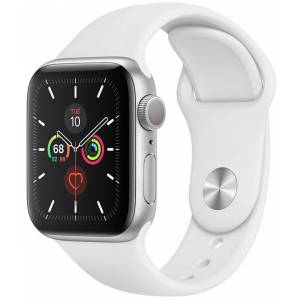 Apple Watch Series 5 40mm Silver With White Sport Band (V62)
