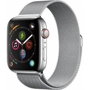 Apple Watch Series 4 Cellular 44mm Stainless Steel With Milanese Loop (X12)
