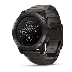 Garmin Fenix 5X Plus Watch (Sapphire Cabon Gray Titanium)