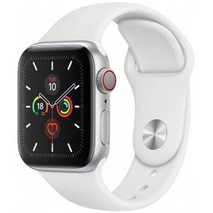Apple Watch Series 5 Cellular 40mm Silver With White Sport Band (X12)