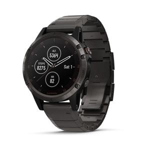 Garmin Fenix 5 Plus Watch (Sapphire Cabon Gray Titanium)