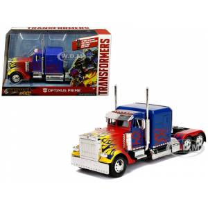 """Jada Optimus Prime Truck with Robot on Chassis from """"Transformers"""" Movie """"Hollywood Rides"""" Series  Diecast Model by Jada"""