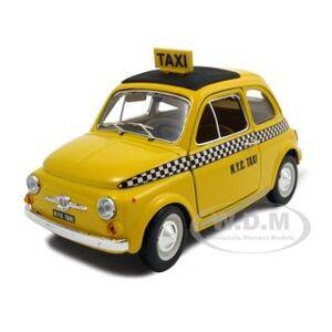 Bburago Fiat 500 Taxi Cab 1/24 Diecast Model Car by Bburago
